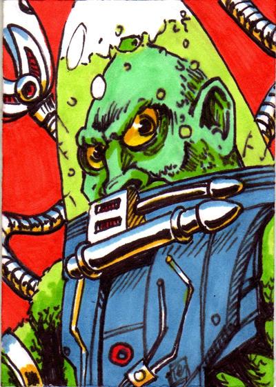 MOTU Slushhead Sketch Card no1