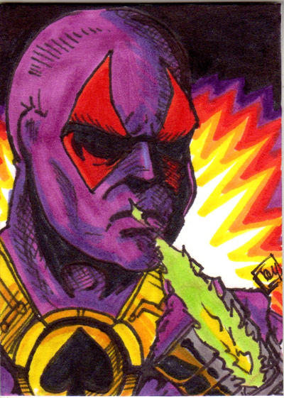 MOTU Mighty Spector Sketch Card no 1