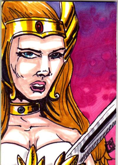 MOTU She-Ra Sketch Card no 1
