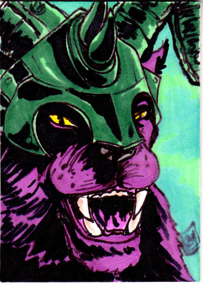 MOTU Panthor Sketch Card no1