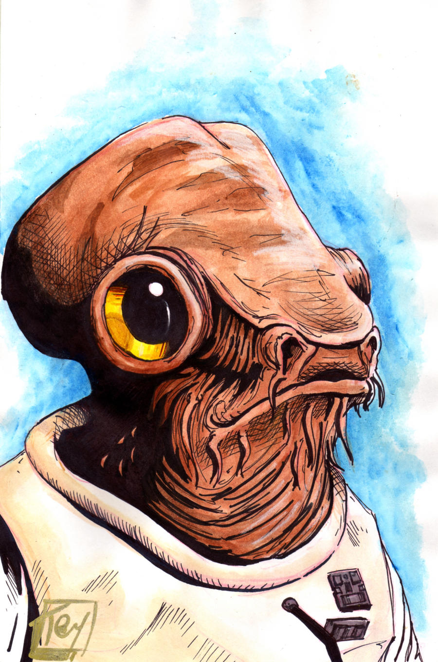 Admiral Ackbar pre Fan Days Convention 2012 by Barnlord