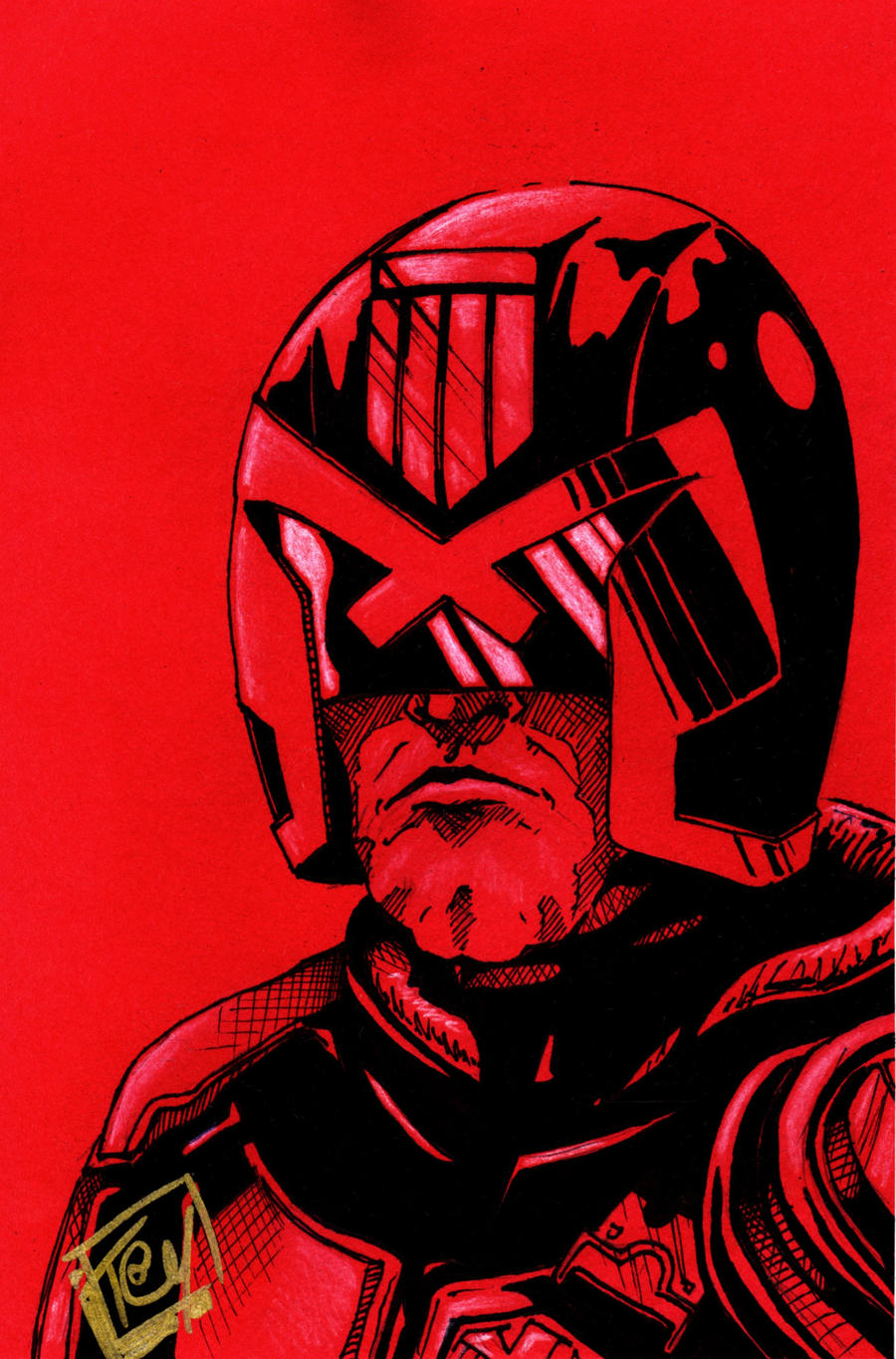 Dredd Pre Fan Days 2012 Pin up