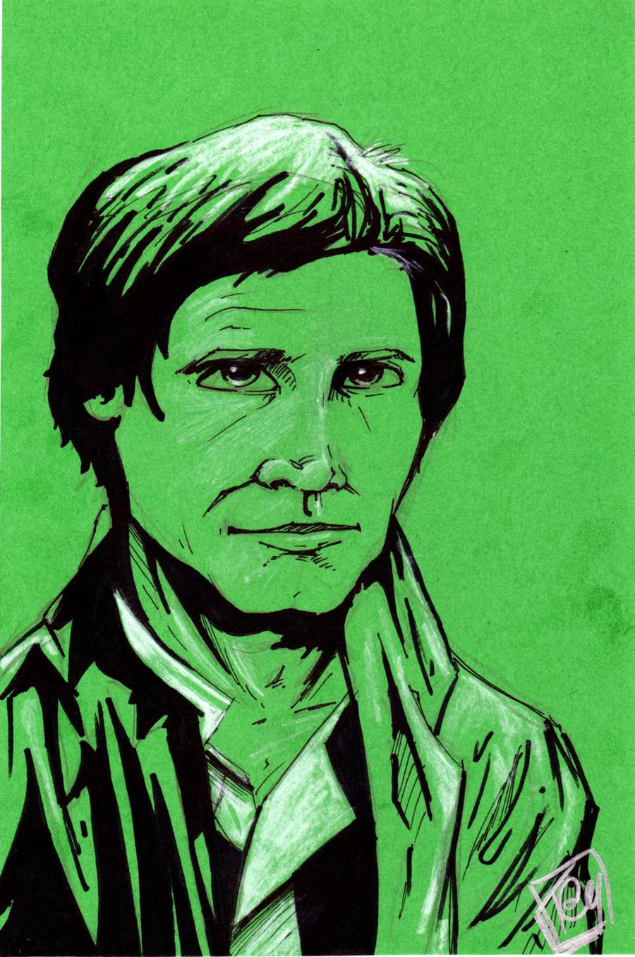 Han Solo in Trench Coat Fan Days commission 2012