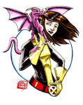 Reese as Kitty Pryde with Lockheed by Barnlord