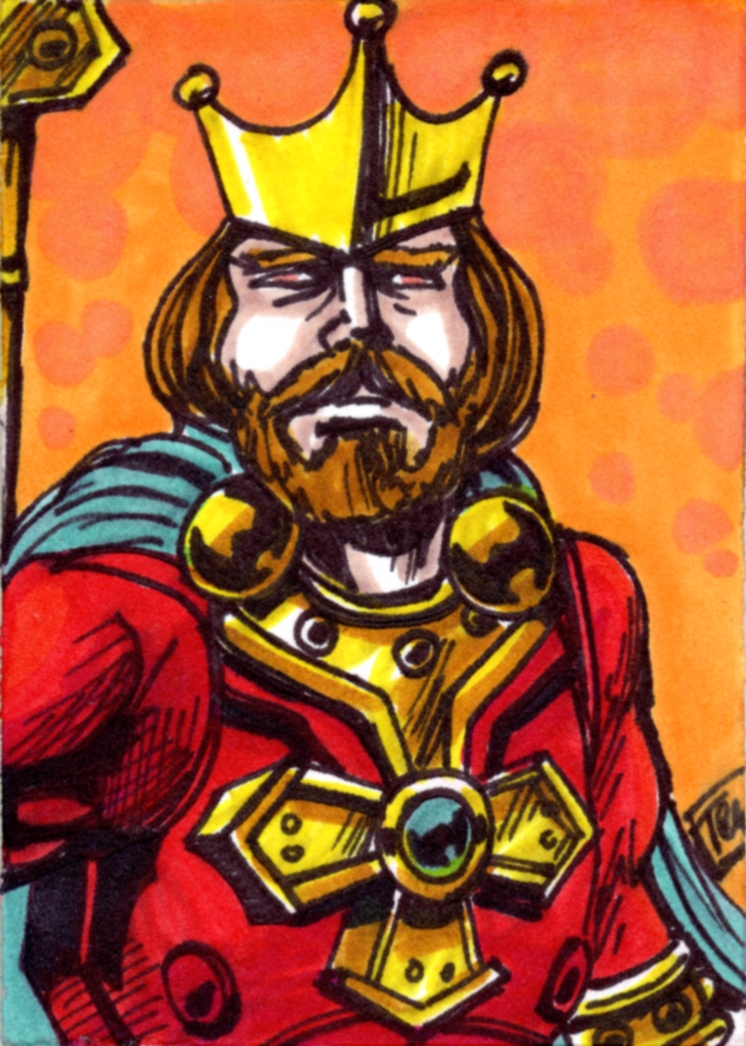 King Randor Sketch Card