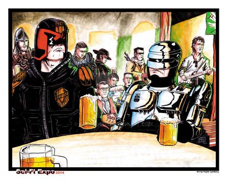Two Super Cops Walk into a Bar...