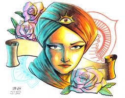 All Seeing Eye Girl Tattoo Design