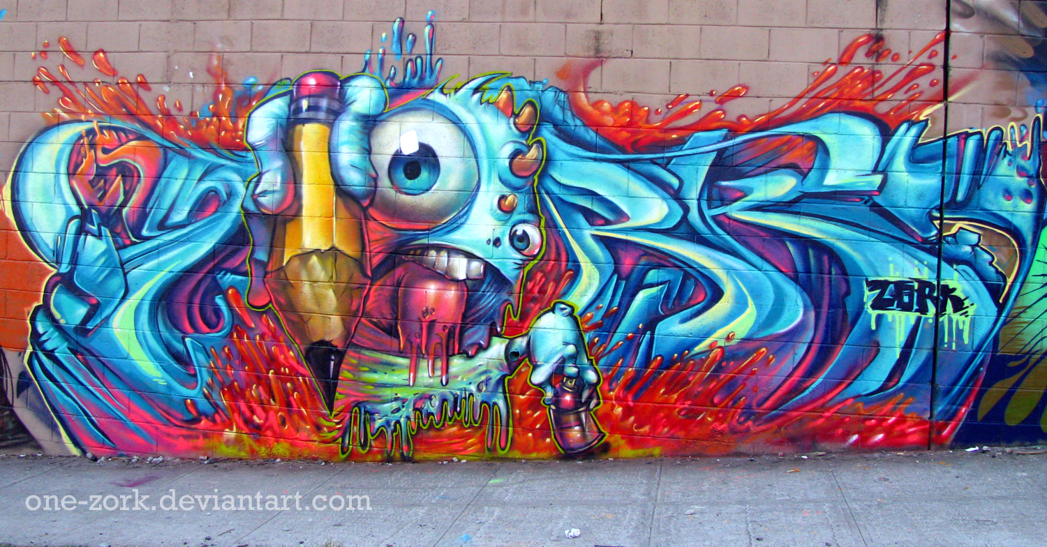 Boi graffiti by thezork traditional art street art freehand graffiti