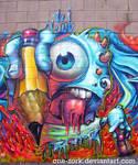 melted boi graffiti character