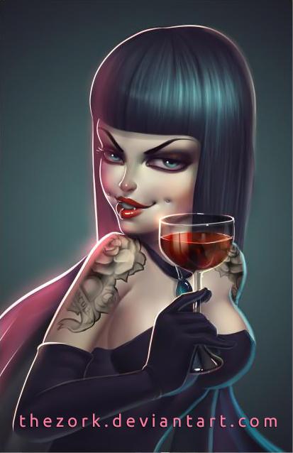 Vampire girl by thezork