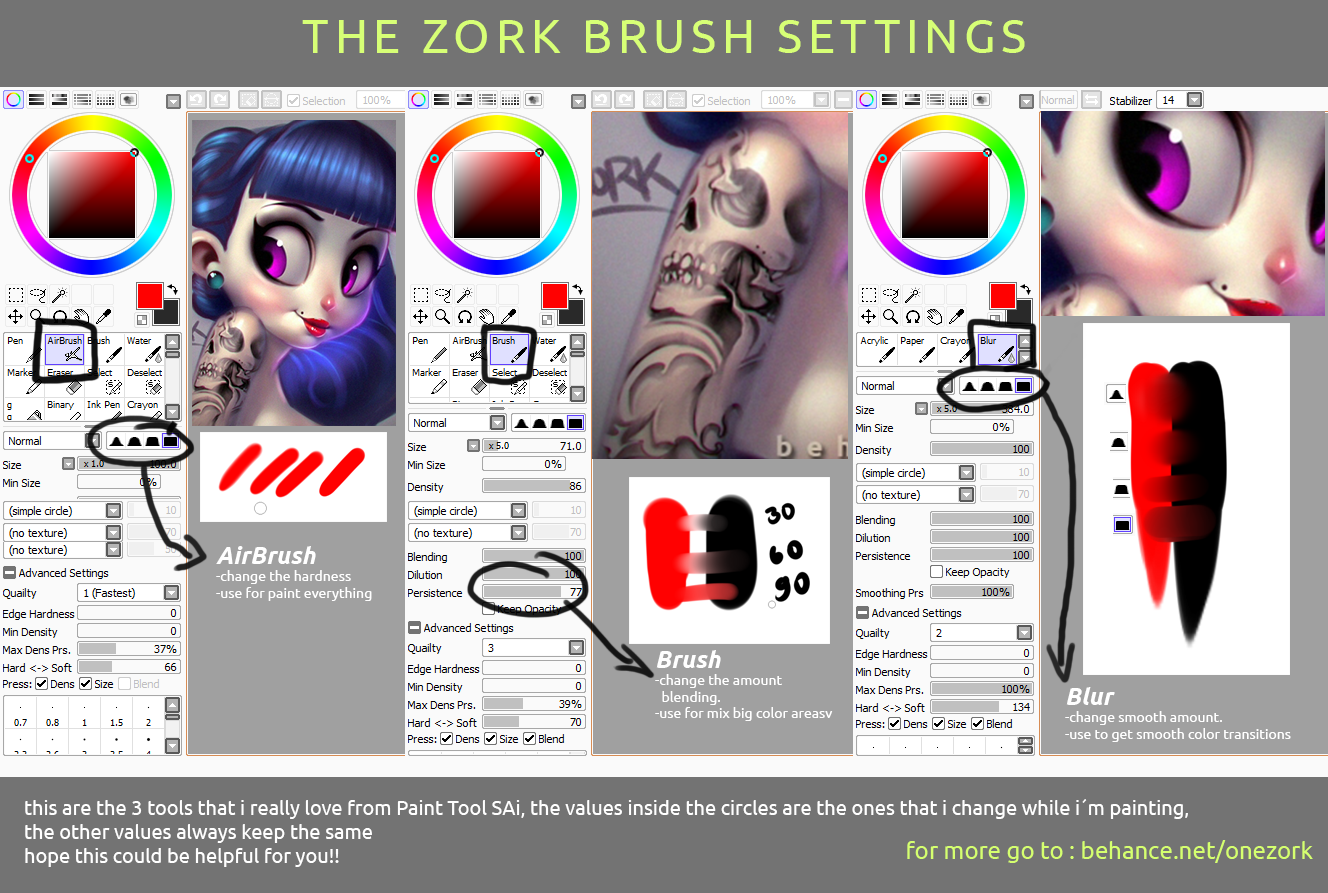 Spray Can Brush For Paint Tool Sai