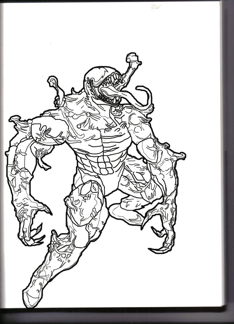 Ultimate Venom inked by Khos on DeviantArt