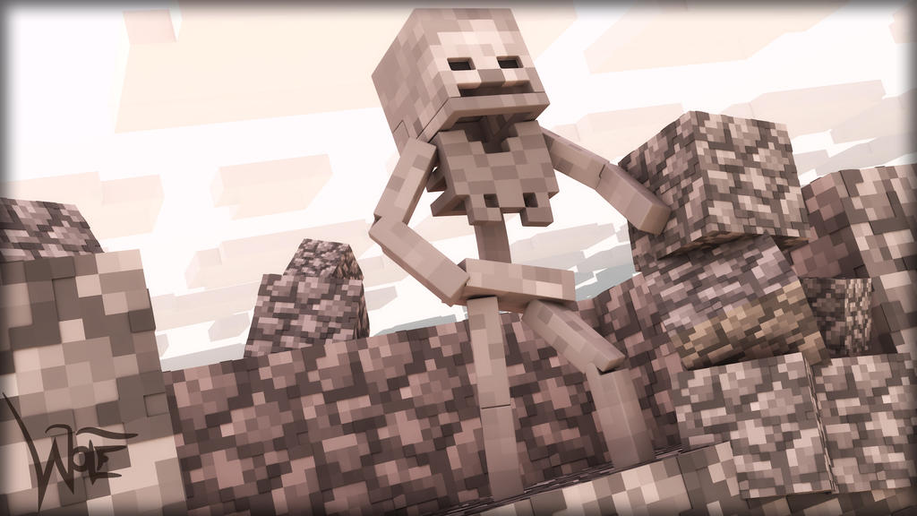 Minecraft Simple Skeleton Wallpaper by wolfpedro on DeviantArt