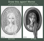 Draw this again - Girl in frame 3