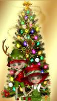 1440 x 2560 Smart Phone Christmas Wallpaper by SunnyDaze-BlueNights