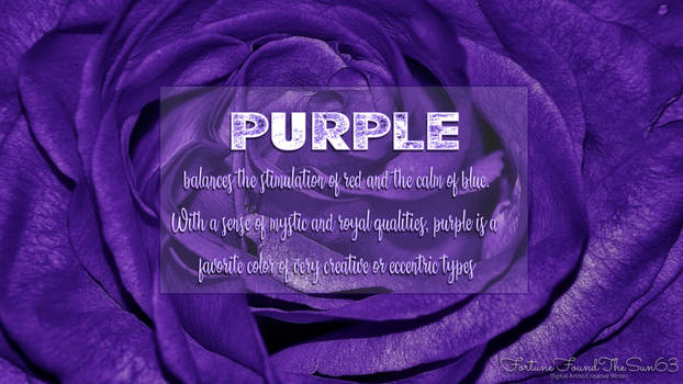 Meaning of the Color-PURPLE