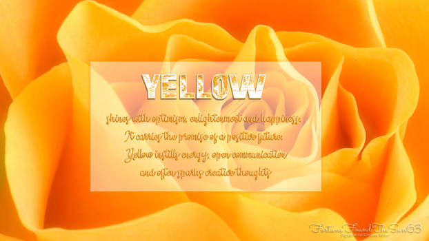 Meaning of the Color-YELLOW