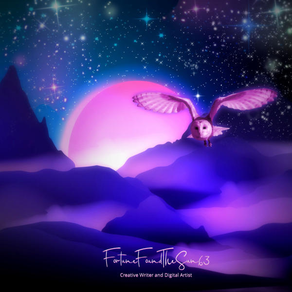 The Night Owl As The Pink Moon Looms