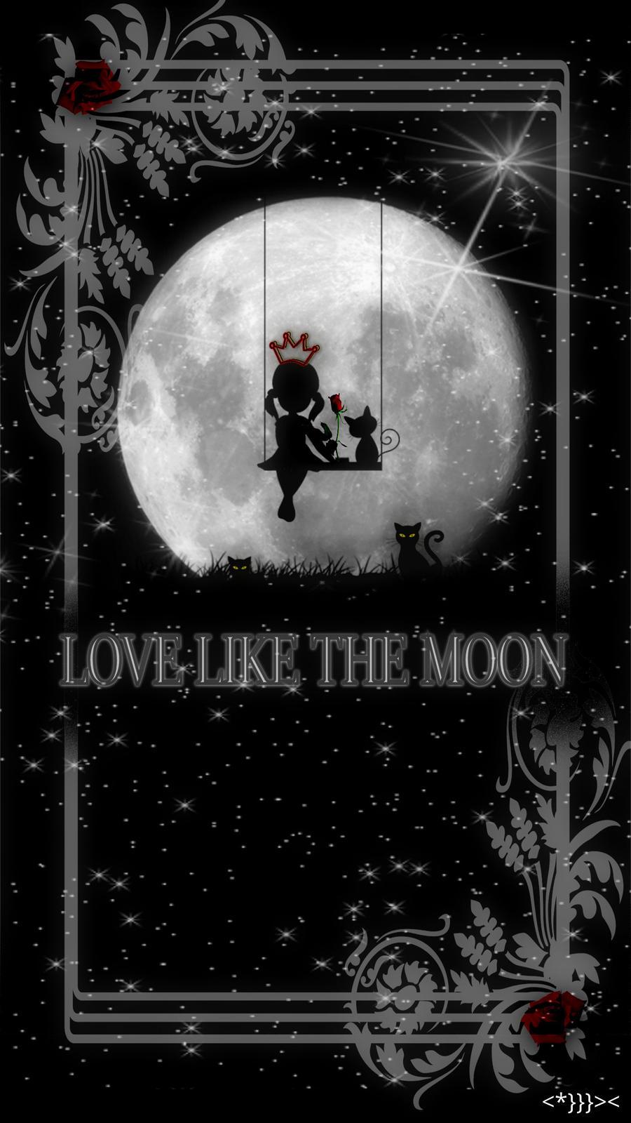 Love Like The Moon Smartphone Wallpaper v2