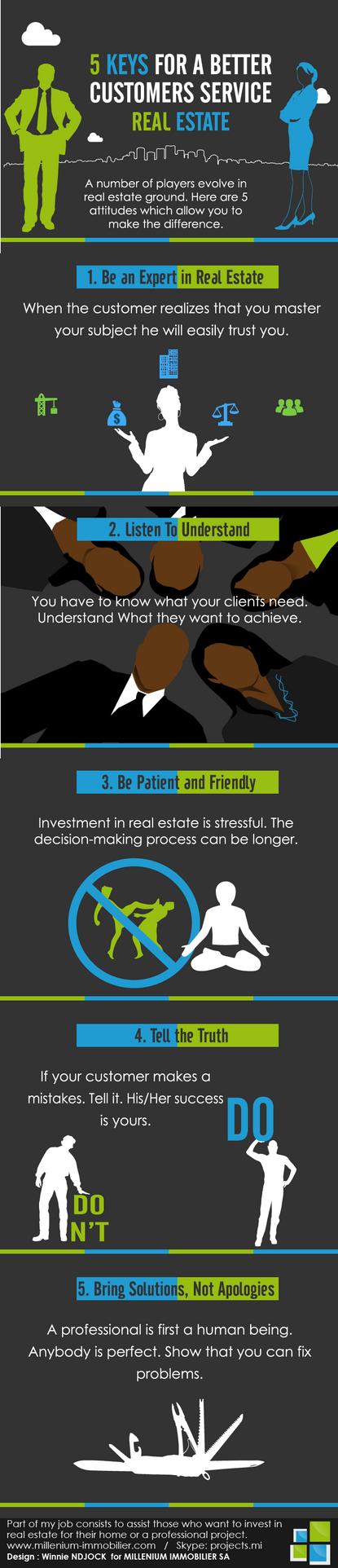 [Infographic] Keys for Better Customer Service by CamerDesigner