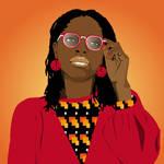 Portrait d'une femme en lunettes by CamerDesigner