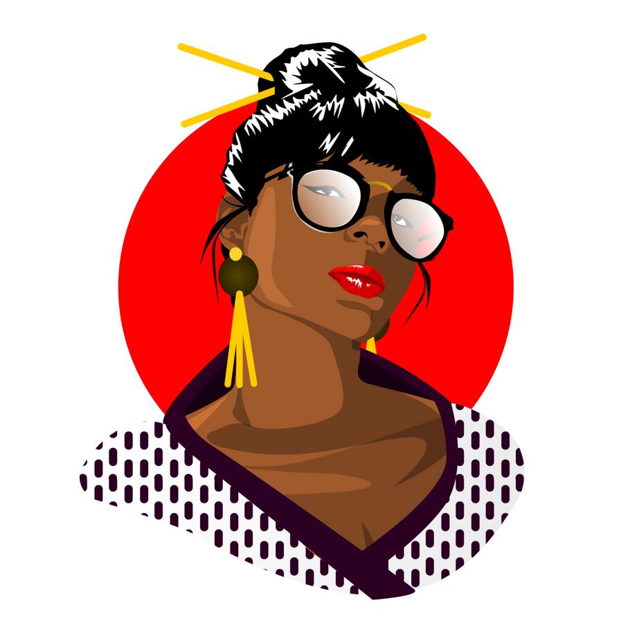 Afro Queen Japan inspiration by CamerDesigner