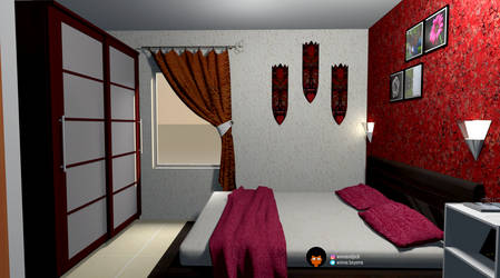 Chambre ambiance ethnique chic - Home 3 by CamerDesigner