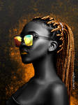 Golden Afro Diva by CamerDesigner
