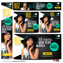 Banners ads design fashion template-2 by CamerDesigner