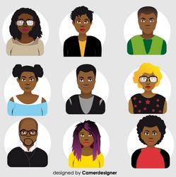 Afrostyle Avatars design by CamerDesigner