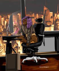Lady Tech - digital illustration
