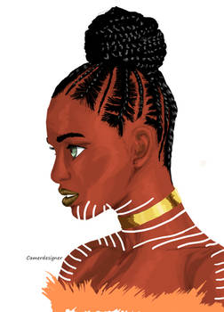 Woman Digital Portrait 2-4