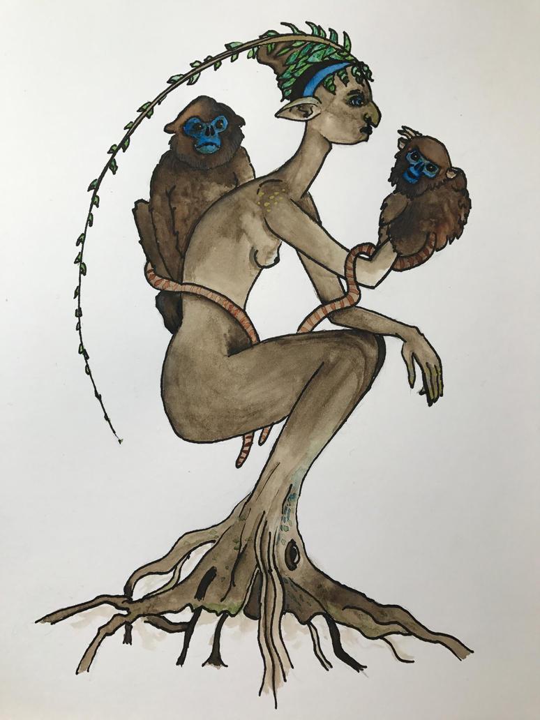 Wood nymph by MaureneS