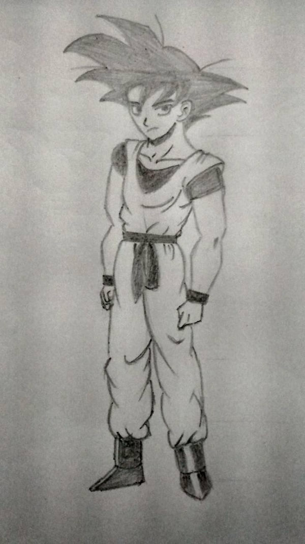 Goku sort of XD by h2so4-vitriolix
