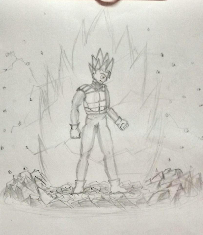 Super Saiyan power up by h2so4-vitriolix