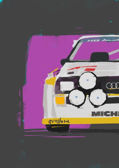 Audi Quattro S2 by GunstoneArt