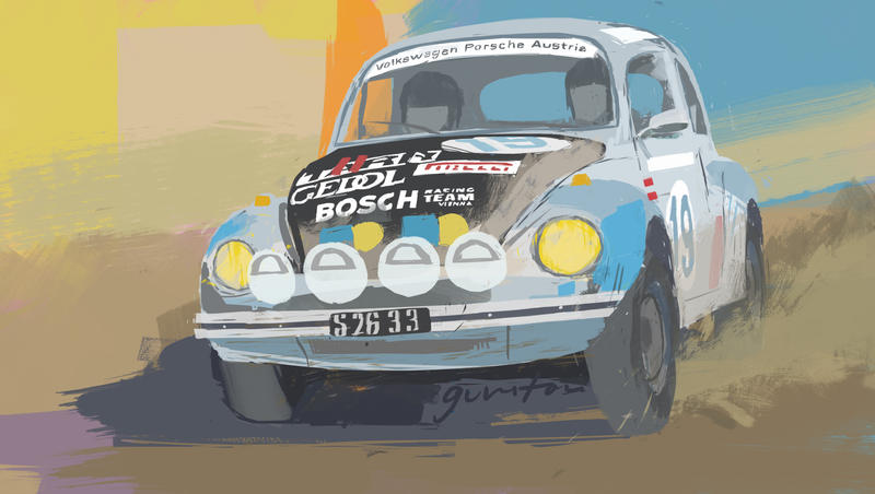 Rally Beetle by GunstoneArt