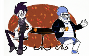 Hipsters in Fall by Raifiel