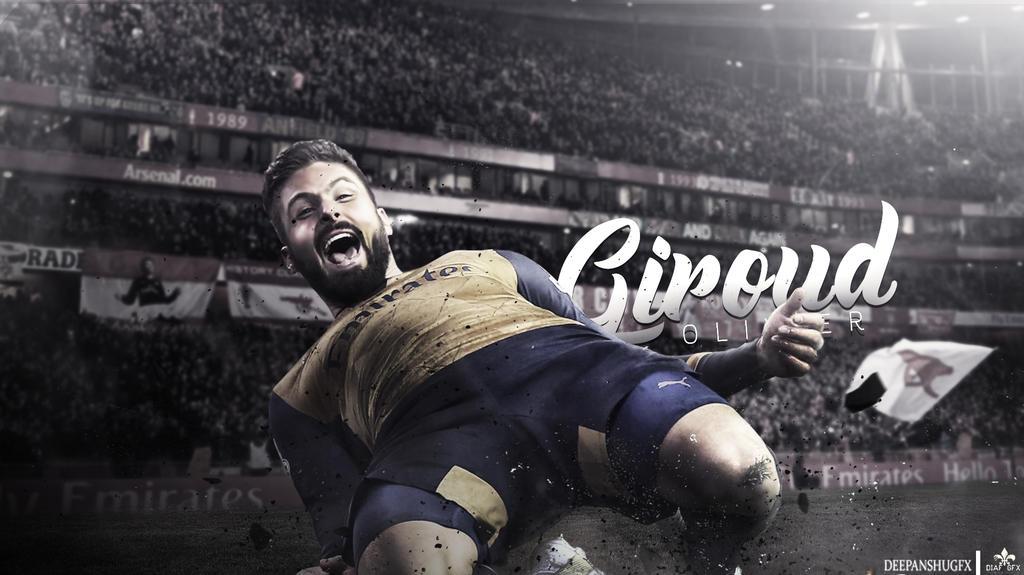 Oliver Giroud | Desktop Wallpaper by DeepanshuGFX