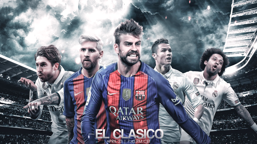 El Clasico | Desktop Wallpaper by DeepanshuGFX