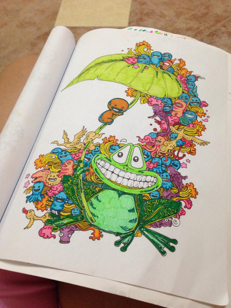 From Adult Coloring Book Doodle Invasion By Sandrasalazar
