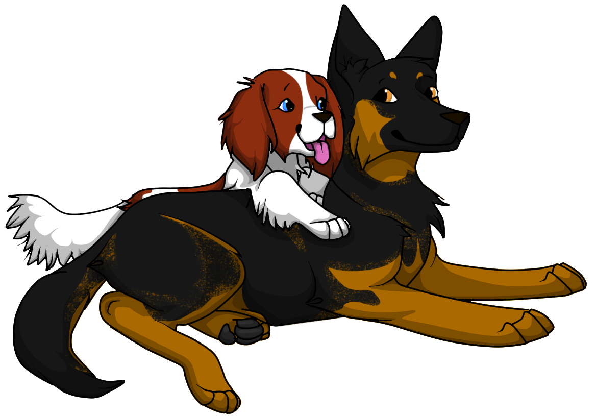 Reina and Cyan by Kyliesaur