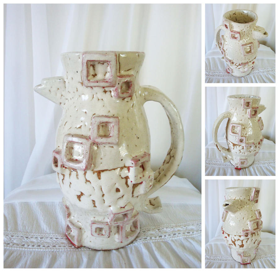 Ceramic Pitcher - Glazed by 5ft-2-Eyes-of-Blue