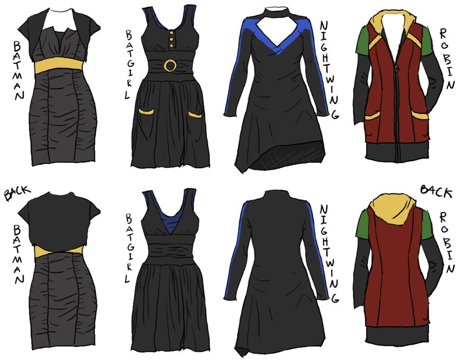 Batfamily Dresses by Robinade