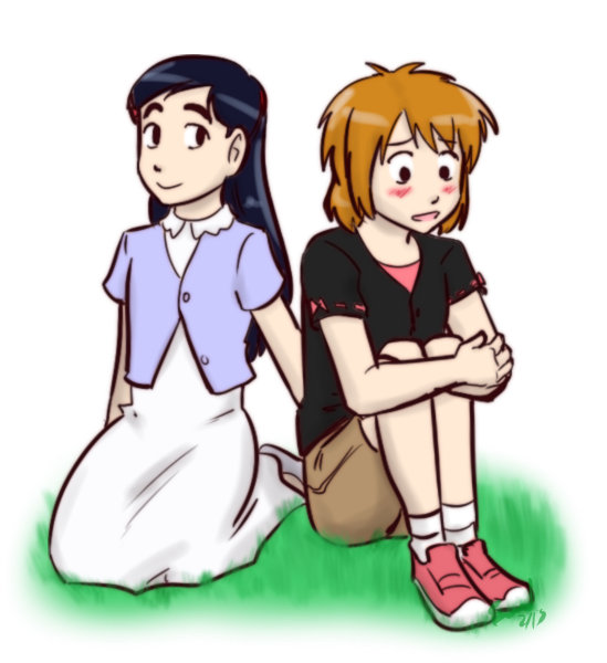 Hanging out on the grass - NagiHono by funakounasoul