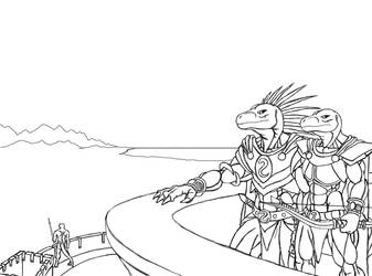 Lineart01 by TargonRedDragon