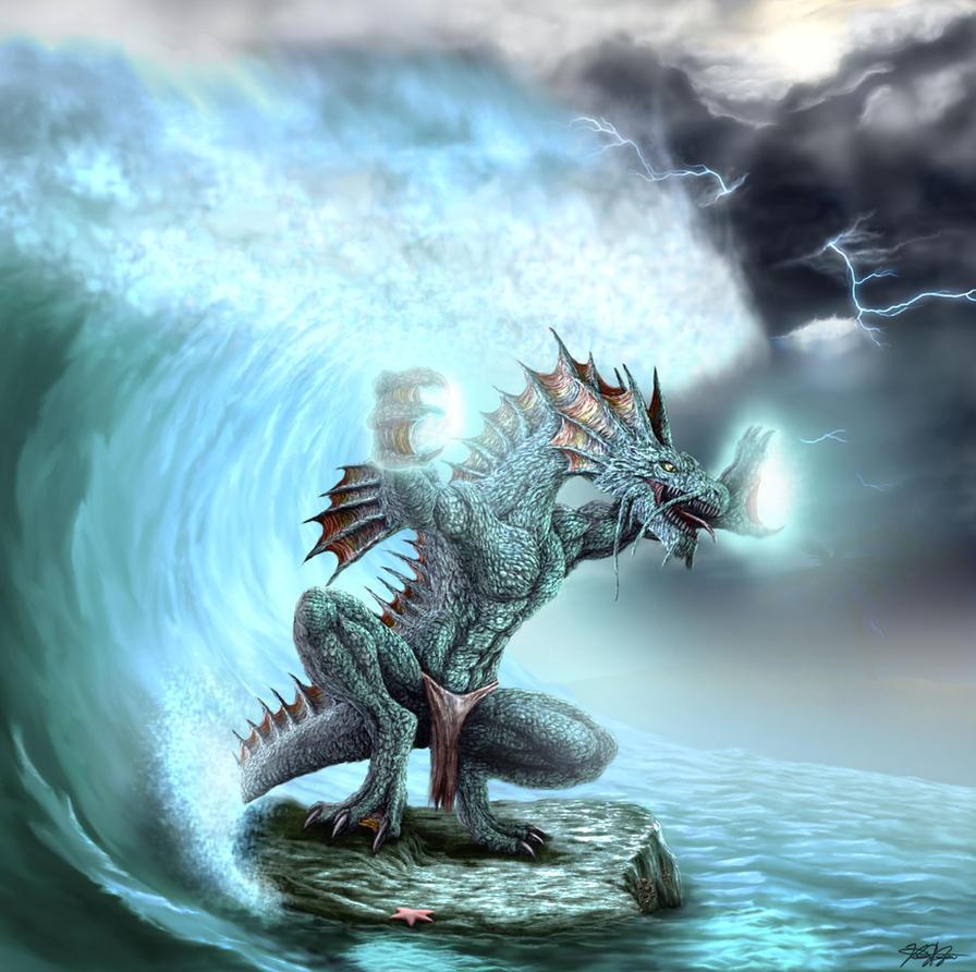 Poseidon's Tsunami by TargonRedDragon