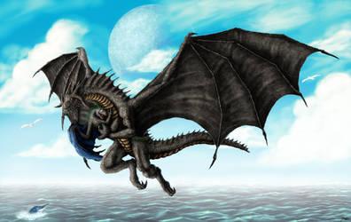 Cuddly Dragon Whelp by TargonRedDragon