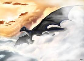 A Flight through the Mists by TargonRedDragon