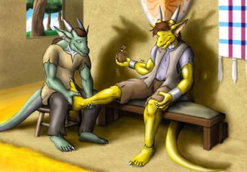 Foot Massage by TargonRedDragon